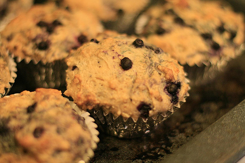 Getting ready for winter… by baking blueberry muffins!
