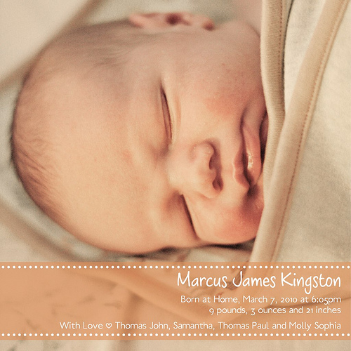Marcus James is here! (and a Baby Steps EC Pattern Giveaway) Winners Announced!!